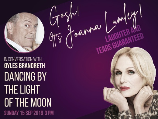 Gosh! It's Joanna Lumley in conversation with Gyles Brandreth