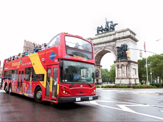 Hop-On Hop-Off Uptown + Downtown New York Downtown Tour Only: Single Day Pass