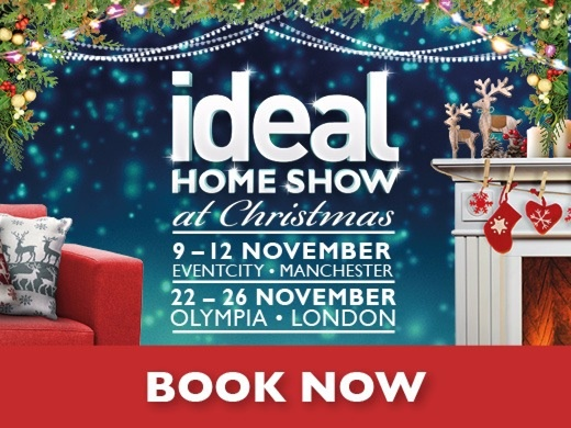 the ideal home show at christmas london tickets london. Black Bedroom Furniture Sets. Home Design Ideas