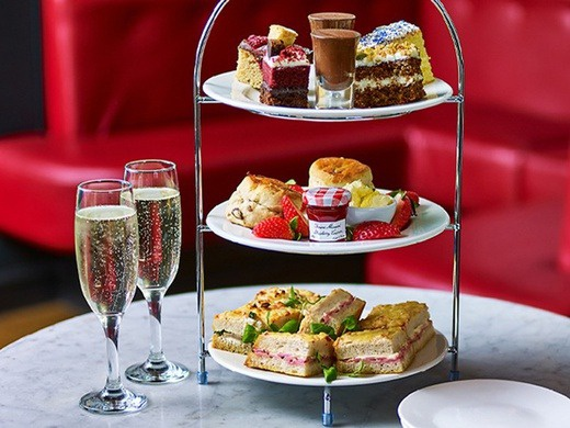 Wicked and free afternoon tea with a glass of prosecco at Cafe Rouge